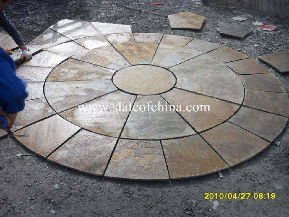 Slate Circle Patio Paving Kits From Slateofchina Inquiry Online Ask By E Mail