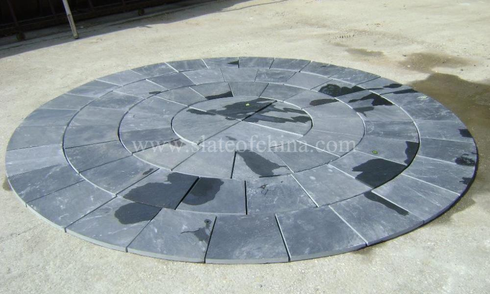 Garden Stone Circles Natural slate garden flagstone circle paving slate circle pattern natural slate garden flagstone circle paving inquiry online ask by e mail workwithnaturefo